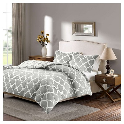 Alston Reversible Plush Comforter Set (King)Gray - 3pc