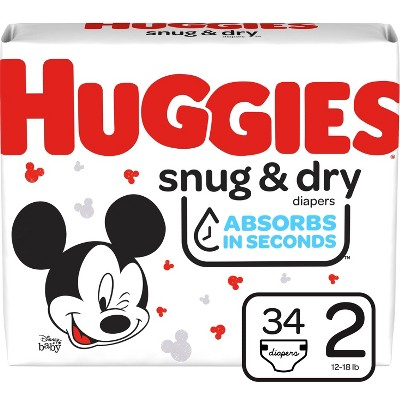 Huggies Snug & Dry Diapers - Size 2 - 34ct