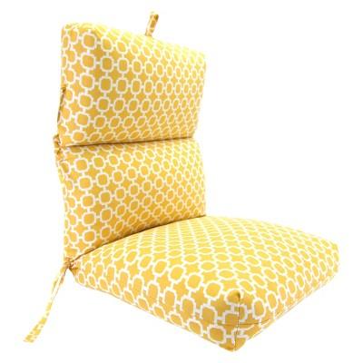 Outdoor Universal Chair Cushion - Yellow/White Geometric