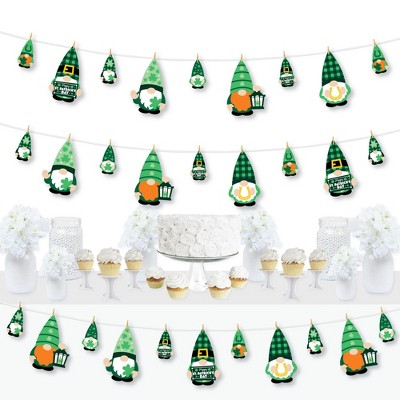 Big Dot of Happiness Irish Gnomes - St. Patrick's Day Party DIY Decorations - Clothespin Garland Banner - 44 Pieces