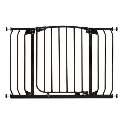 Dreambaby F170B Chelsea 38 to 42.5 Inch Auto-Close Baby & Pet Wall to Wall Safety Gate with Stay Open Feature for Doors, Stairs, and Hallways, Black