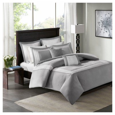 Heritage 7 Piece Duvet Cover Bedding Set with 2 Decorative Pillows and Euro Shams