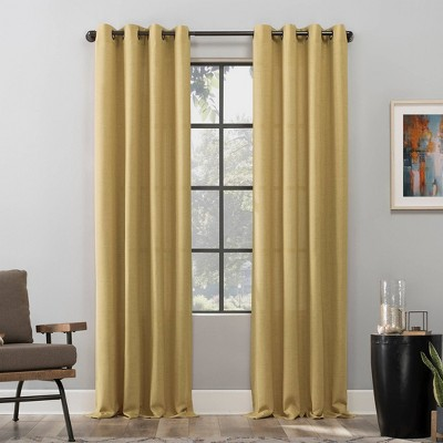 Dari Heathered Texture Light Filtering Grommet Top Curtain Panel - Scott Living