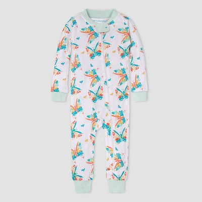 Burt's Bees Baby® Baby Girls' Butterfly Pajama Jumpsuit - Blue