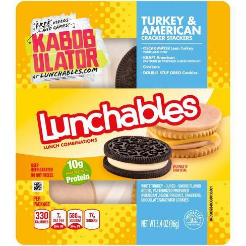 Oscar Mayer Lunchables Turkey & American Cracker Stackers - 3.4oz - image 1 of 1