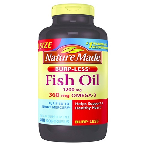 Nature Made Odorless Fish Oil Dietary Supplement Liquid Softgels - 200ct - image 1 of 1