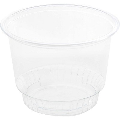 50 Pack 8 oz Clear Plastic Cups with Dome Lids for Ice Cream, Dessert, Mini Snack Bowls