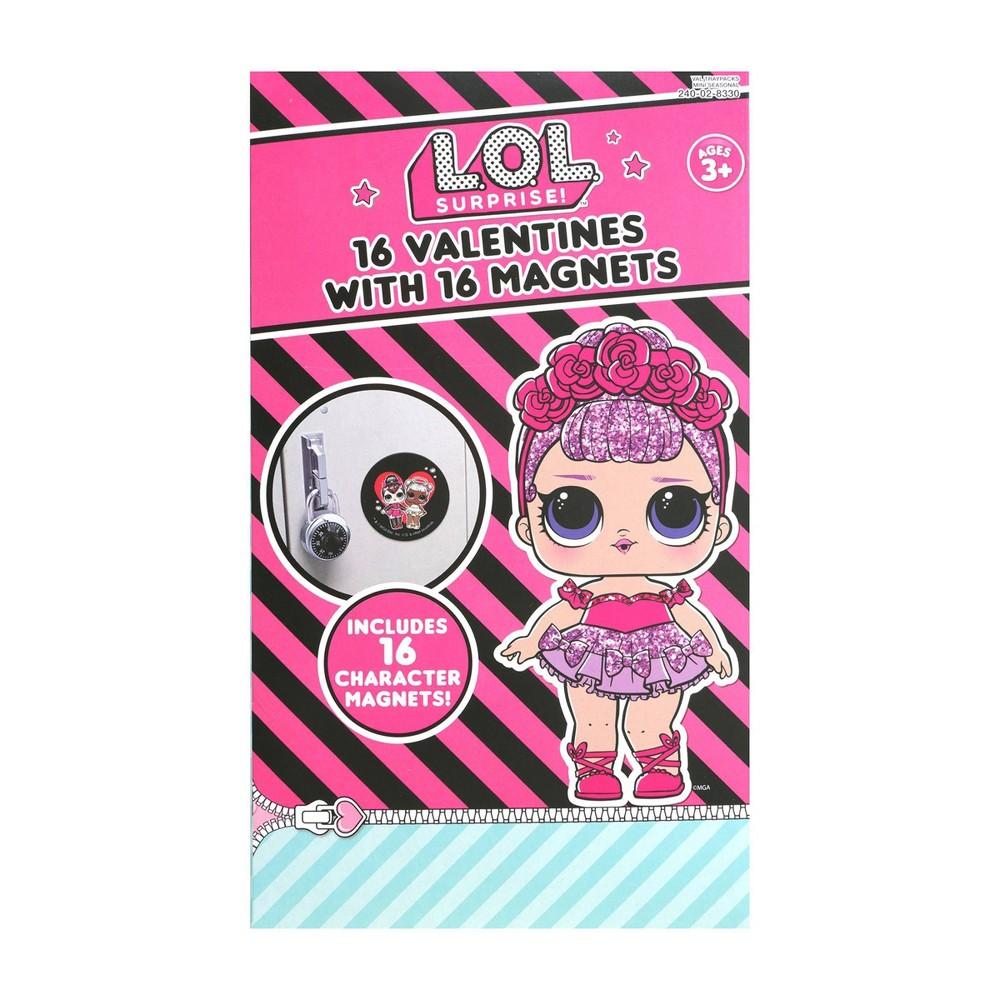 Image of L.O.L 16ct Valentines With Magnets