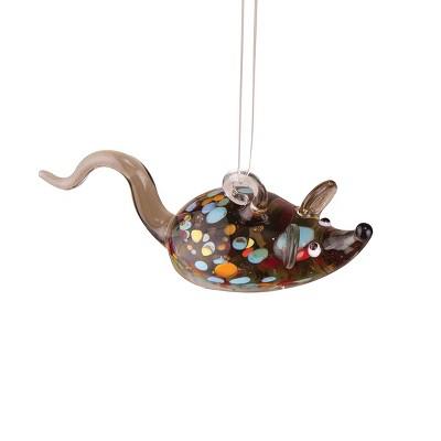 Gallerie II Mini Art Glass Mouse Christmas Xmas Ornament