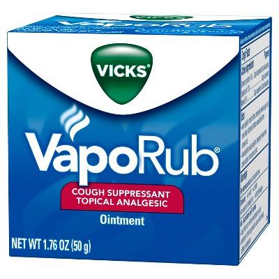 Vicks VapoRub Cough Suppressant Ointment - 1.76oz