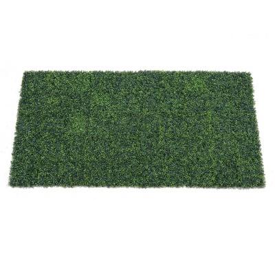 "Vickerman 50"" Artificial Green Boxwood Mat."