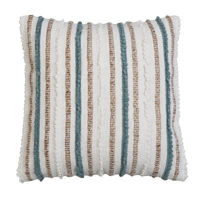 "2pk 20""x20"" Oversize Kloven Cotton Square Throw Pillows Blue - Decor Therapy"