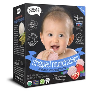 Nosh Baby Shaped Munchables - Pomegranate & Blueberry, 1.76oz - 24ct - Hexagon
