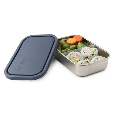 U-Konserve Stainless Steel Food-Storage Container Bento Rectangle 25oz - Ocean Plastic Lid