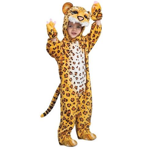 Rubie's Orange Leopard Jumpsuit Costume Child Toddler - image 1 of 1