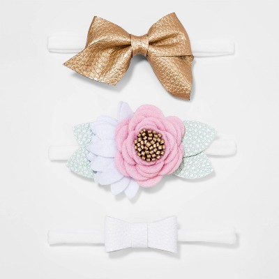 Baby Girls' 3pk Felt and Glitter Bow Headband - Cloud Island™