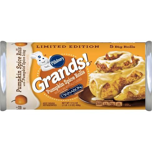 Pillsbury Grands! Pumpkin Spice Rolls - 17.5oz/5ct - image 1 of 3
