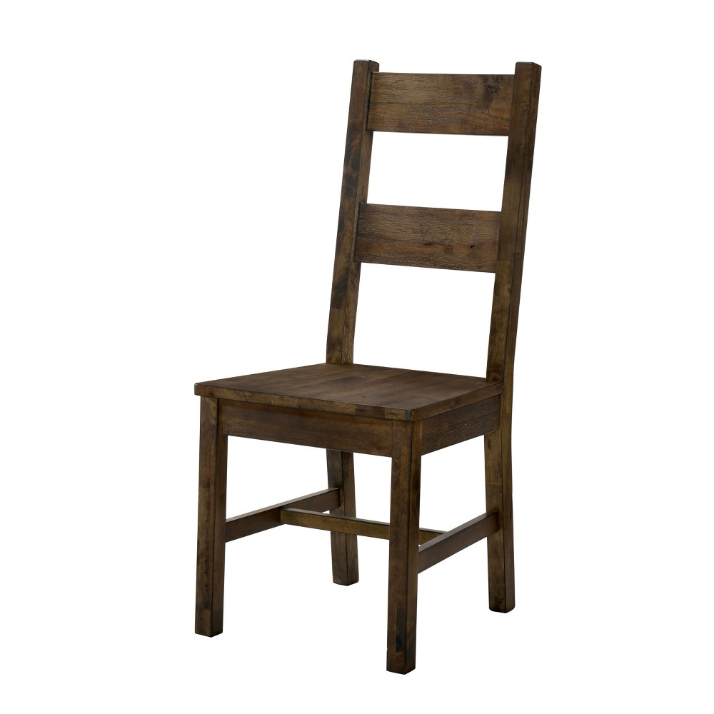 Sims Wood Dining Side Chair Set of 2 Rustic Oak - Sun & Pine