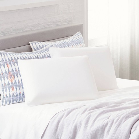 Comfort Revolution Memory Foam Bed Pillow   White (Twin Pack) : Target