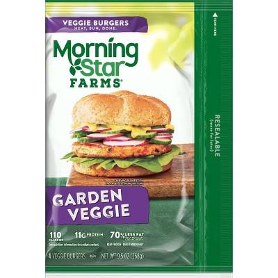 Morningstar Farms Garden Veggie Burger Patties - Frozen - 9.5oz/4ct