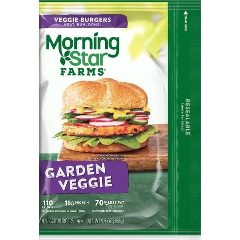 Morningstar Farms Garden Frozen Veggie Burger Patties - 4ct - image 1 of 4