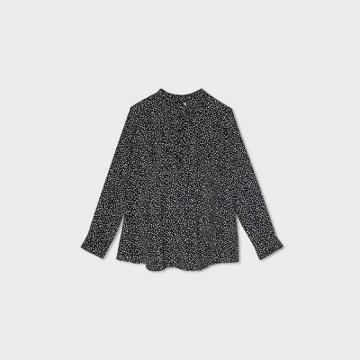 Long Sleeve Rolled Tab Woven Maternity Top - Isabel Maternity by Ingrid & Isabel™