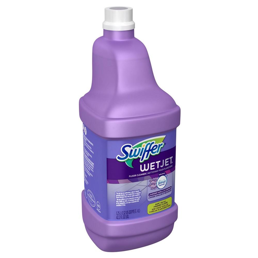 Swiffer Wet Jet Multi-purpose Floor Cleaner Solution Refill with Febreze Lavender Vanilla & Comfort Scent - 1.25L