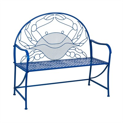 Cape Craftsmen Blue Crab Metal Garden Bench