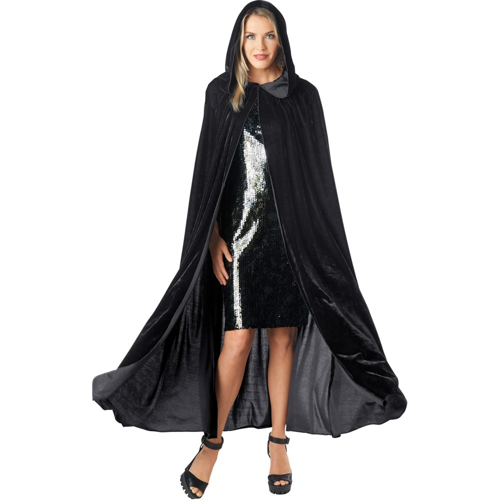 Image of Halloween Women's Velvet Costume Cape Black - Hyde & EEK! Boutique , Women's