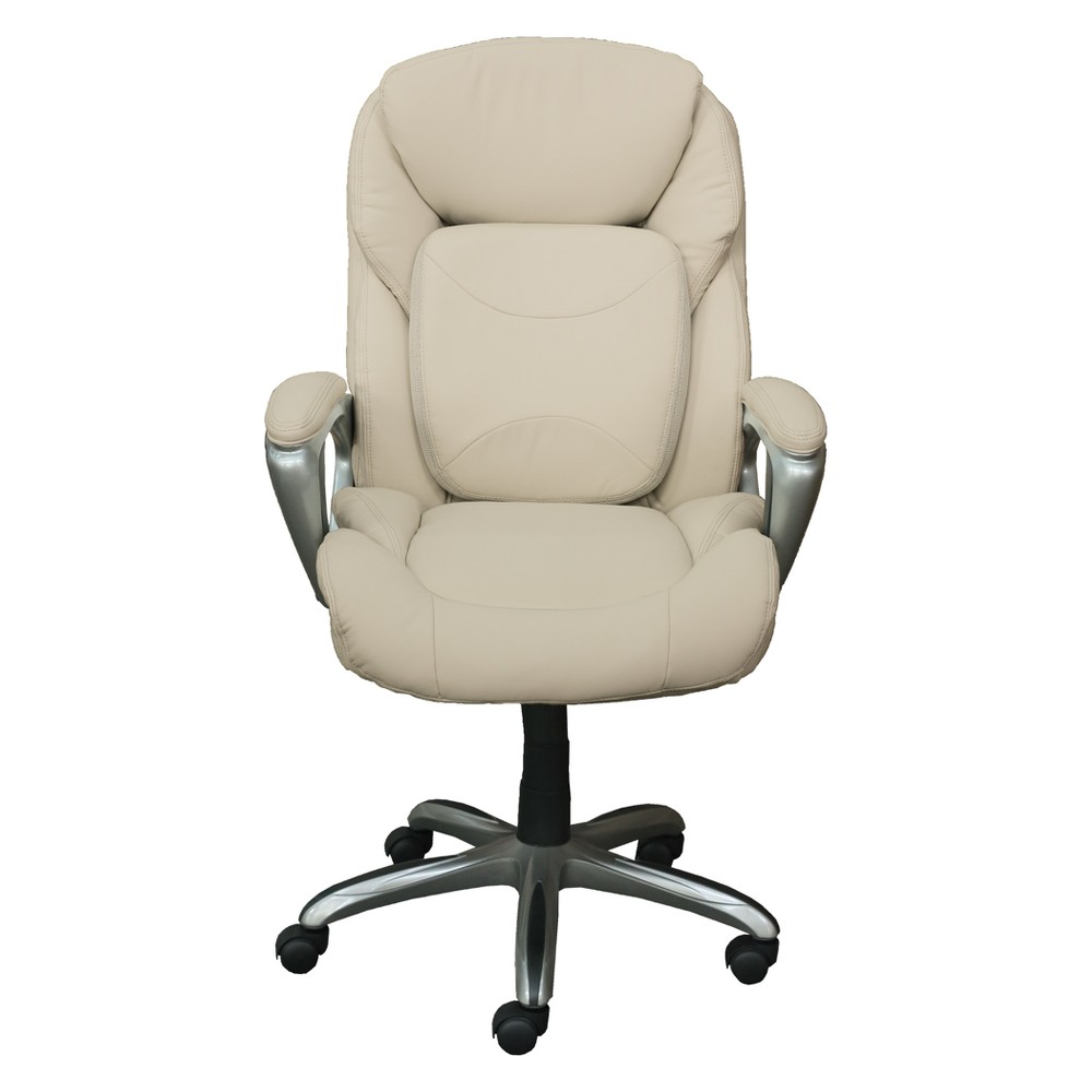 Office Chair with 360 Motion Support Inspired Ivory - Serta