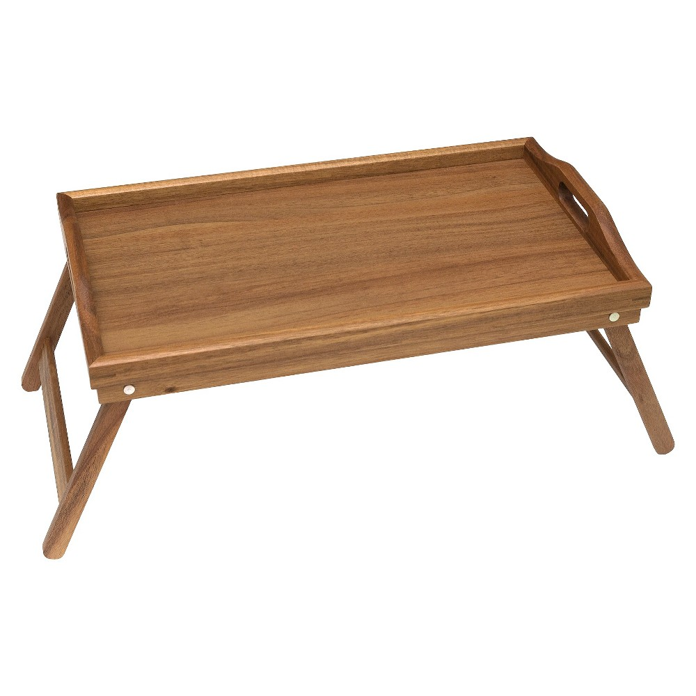 Image of Lipper Acacia Bed Tray with Folding Legs