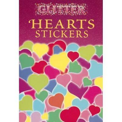 Glitter Hearts Stickers - (Paperback)