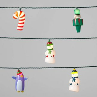 Christmas Character String Lights 10ct Clear Bulbs with Green Wire - Wondershop™