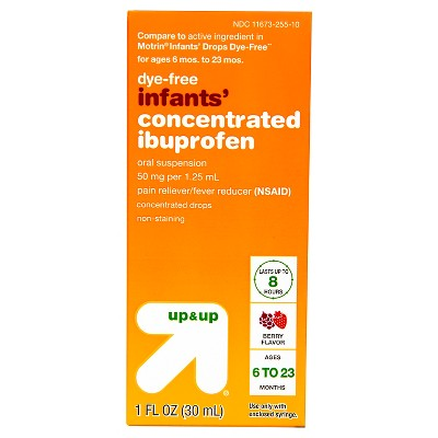 Infants' Concentrated Ibuprofen (NSAID)Oral Suspension Pain & Fever Reducer Liquid - (Compare to Motrin Infants Drops)- Berry - 1oz - Up&Up™
