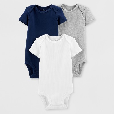 Little Planet Organic by carter's Baby Boys' 3pk Bodysuits - Blue/White/Gray Newborn