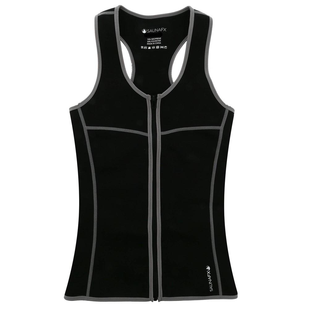 Saunafx Women S Neoprene Slimming Vest With Microban Xl Black
