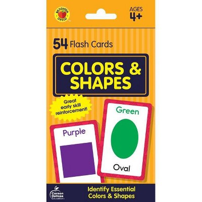 Colors And Shapes Flash Cards (Hardcover)