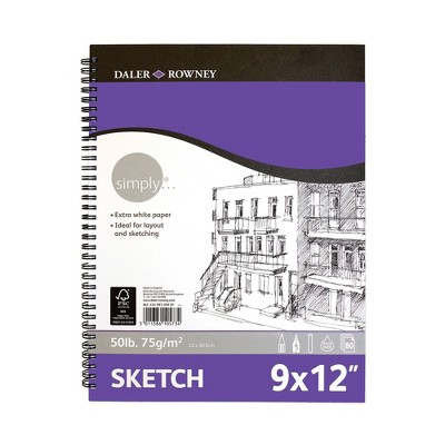"9"" x 12"" 80 Sheet Spiral Simply Sketch Pad - Pacon"