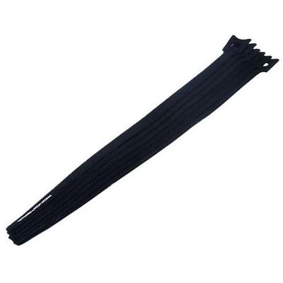 Monoprice Hook and Loop Fastening Cable Ties, 13 in, 10 pcs/pack, Black