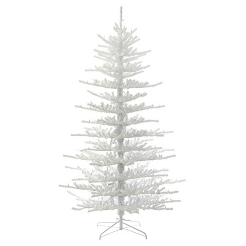 7.5ft Unlit Artificial Christmas Tree Full Flocked Twig - image 1 of 2