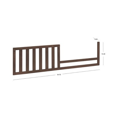Sorelle 136 Toddler Crib Conversion Rail Chocolate