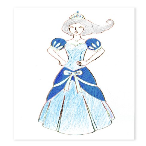 Melissa Doug Princess Design Activity Kit 9 Double Sided Plates