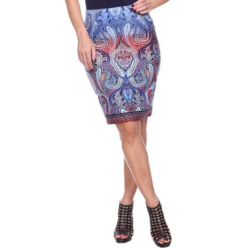 Women's Knee Length Pencil Skirt - White Mark - image 1 of 3