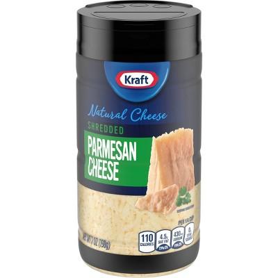Kraft Shredded Natural Parmesan Cheese Shaker - 7oz