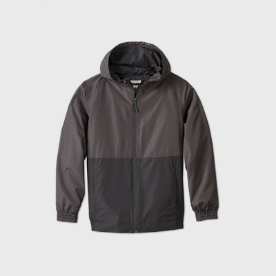 Men's Colorblock Hooded Rain Jacket - Goodfellow & Co™