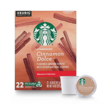 Starbucks Cinnamon Dolce Light Roast Coffee - Keurig K-Cup Pods - 22ct