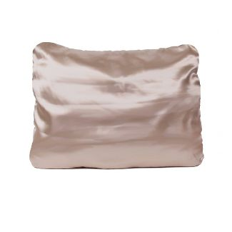 Standard 2pk 600 Thread Count Solid Satin Pillowcase Set Gold - Morning Glamour
