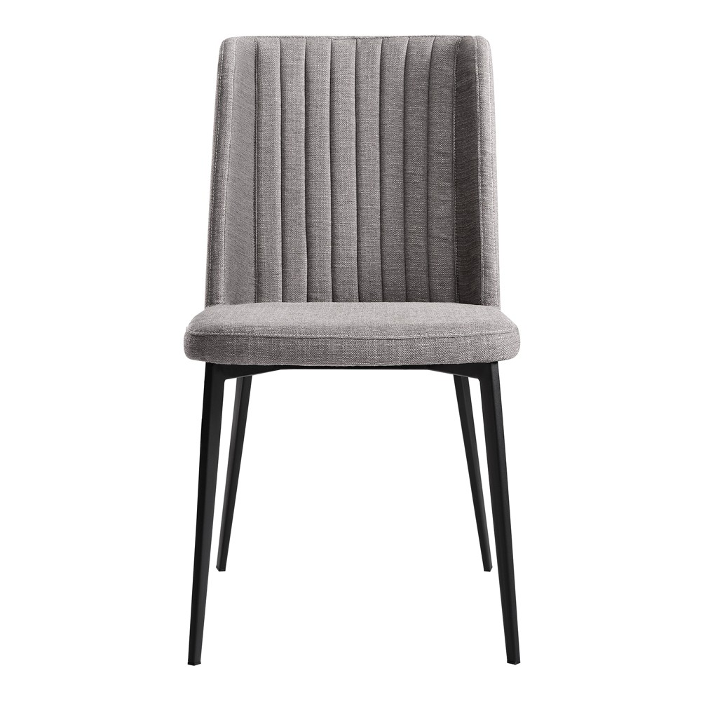 Set of 2 Maine Contemporary Dining Chair Gray - Armen Living