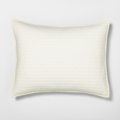 Standard Pillow Sham Quilted Solid Sour Cream - Hearth & Hand™ with Magnolia