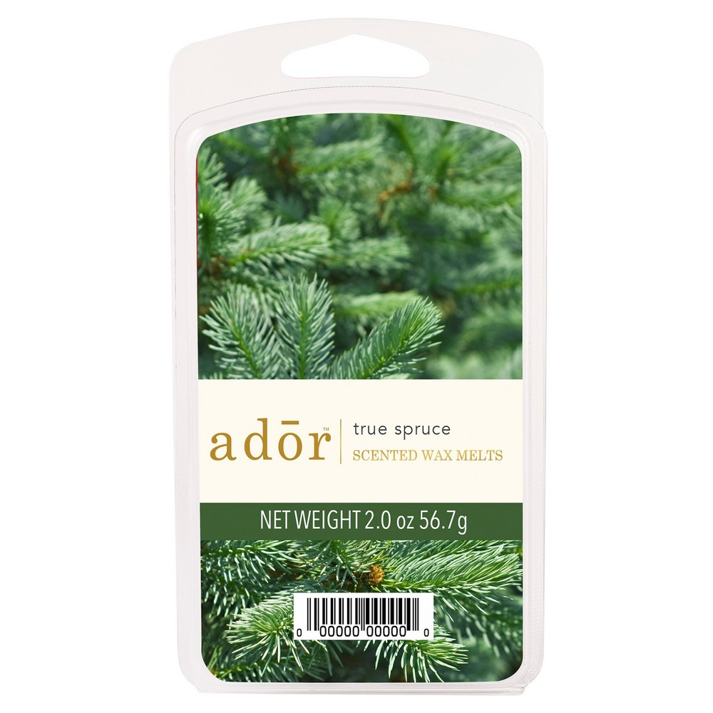 Image of 2oz Scented Wax Melts True Spruce - Ador, Green